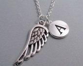 Angel Wing Guardian Angel Silver Plated Charm Jewelry Supplies