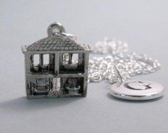 Dollhouse Dolls House Charm Silver Plated Charm Supplies