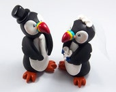 Puffin Cake Topper, Wedding Cake Topper, Bird Cake Topper, Puffin Figurine