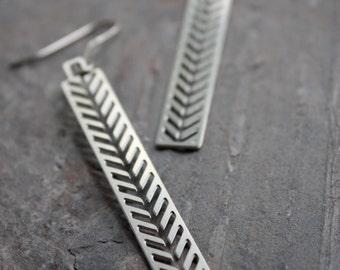 Stainless steel wheat earrings