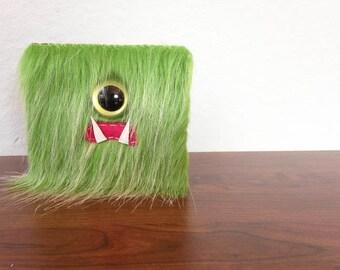 Kiwi Frost Cyclops Monster Wallet- One Olive Eye