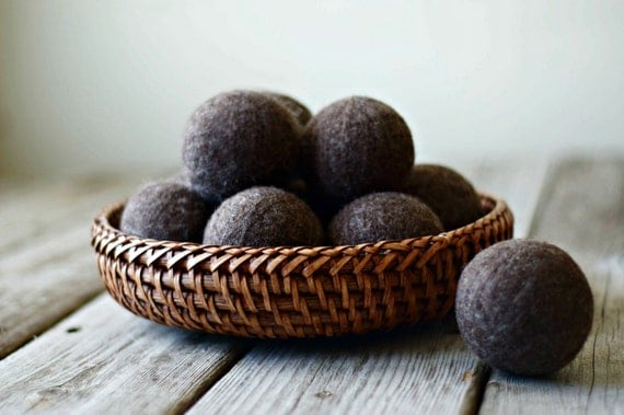 Wool Dryer Balls - Felted Wool Balls - Dryer Balls - Laundry Balls - Green Living - Cloth Diaper Laundry - Dryer Sheets - Felted Wool Ball