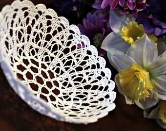 Mini Crochet Lace Bowl/basket