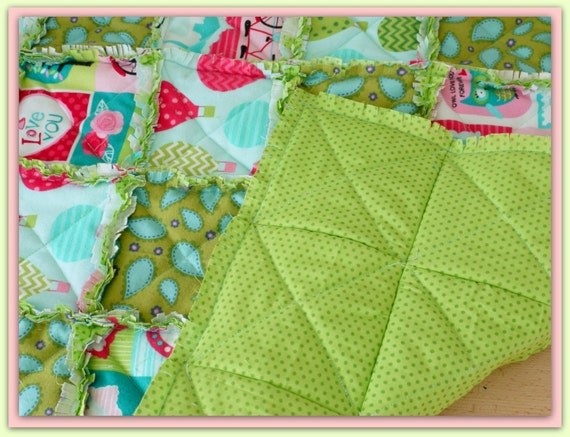 Rag Quilt Sewing Pattern by LillyBlossom by LillyBlossom on Etsy