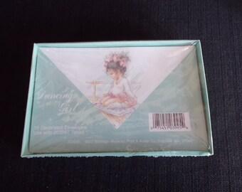 Vintage Dancing Ballet Girl envelopes