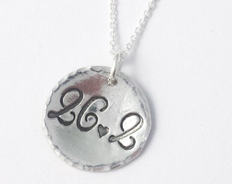 26.2 running necklace - Round Marathon Necklace