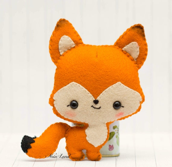 Foxes in love sewing pattern