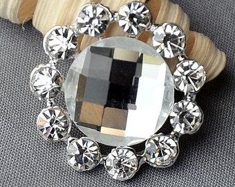 5 Rhinestone Button Embellishment Crystal Wedding Brooch Bouquet Wedding Invitation Cake Decoration Hair Comb Shoe Clip BT583