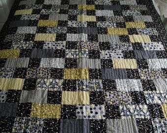 "Handmade Lap Size Quilt, Brickworks, 61"" x 71"""