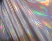 White Silver Reflective Spandex Fabric