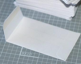 "Coin Envelopes (50) ... White Mini Business Card Size 2.25"" x 3.5"" Gummed Flap Seller Supplies Seeds Cards Scrapbooking Small Envelopes"