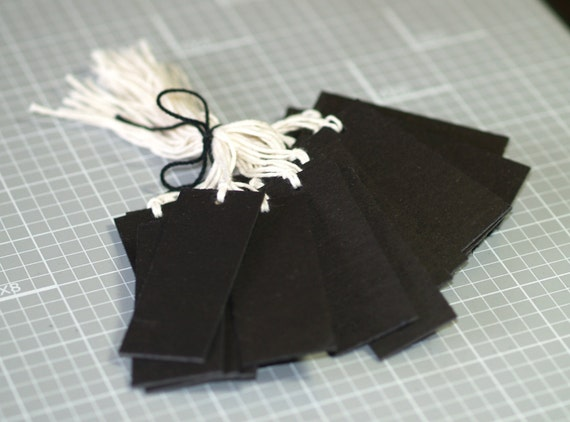 50 thick black tags 2 5 x 1 chipboard for Price tags for craft shows