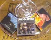 6 Jackson Browne Album Cover Wine Charms for Music/Wine Lover 'YOUR wine glasses deserve Cool SASSY Jewelry' Great Gift for your BFF