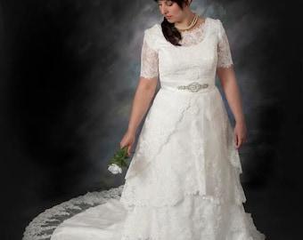 Plus size vintage wedding dress | Etsy