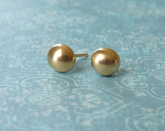Ball Stud Earrings - Gold Stud Earrings - Round Studs | Handcrafted Jewelry