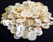 Lot Of 150 Vinttage Mother Of Pearl Shell Buttons