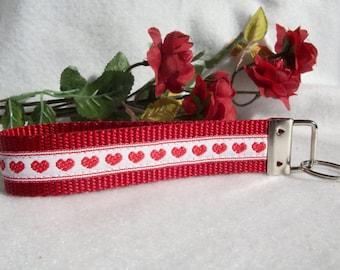 SALE  - Hearts Key Fob Wristlet Style
