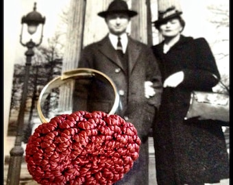 Mademoiselle vintage button ring