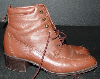 Vintage Brown Oxford BOOTS, Maine Woods, 1980s