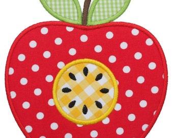 653 Apple Machine Embroidery Applique Design