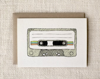 Anniversary Card, Love Card, Any Occasion Card - Mixtape