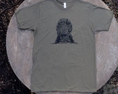 Game of Thrones T Shirt / The Iron Throne / American Apparel Army Green Tee Shirt for Men
