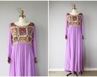 1970s Maxi Dress | 70s Maxi Dress | 1970s Silk Caftan | 70s Caftan
