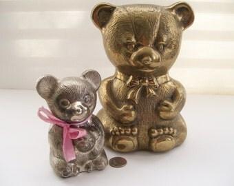 Brass Teddy Bear Large