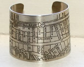 NYC West Village Map Cuff - Silver