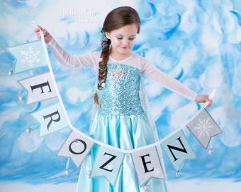 Frozen costume Elsa inspired dress 4t satin style skirt