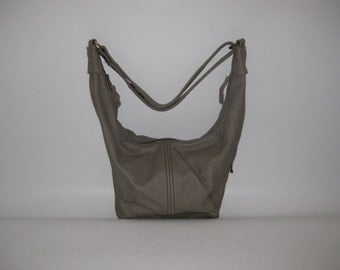 Sale/50% Off/ Reduced to Clear/Medium Sized Leather Shoulder Bag- Crossbody, Slouch,  Hobo Sac -THE NORA