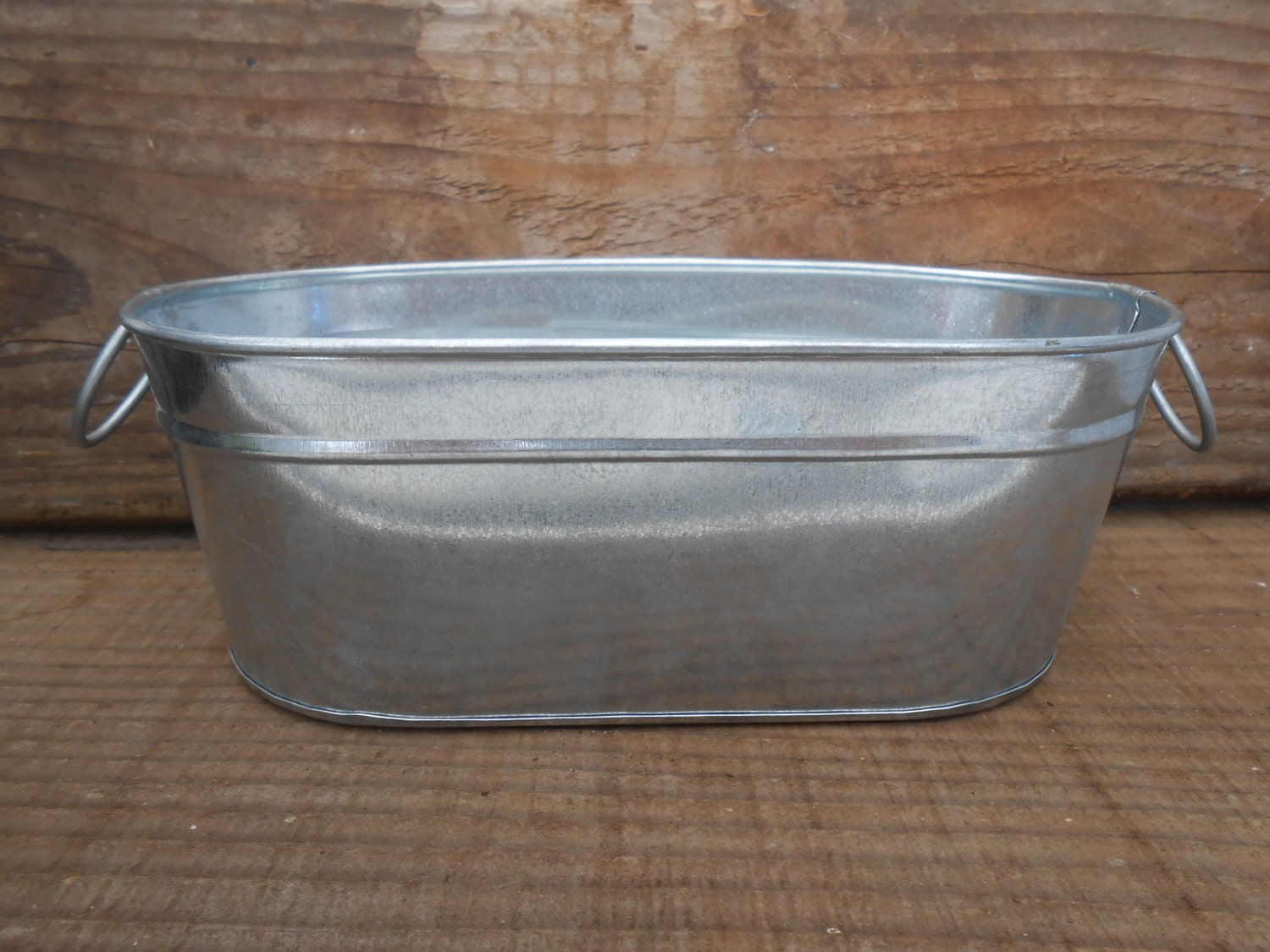2 Oval Galvanized Tubs With Handles Buckets 8 By