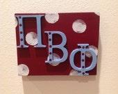 Pi Beta Phi shelf sitter Greek letters big little
