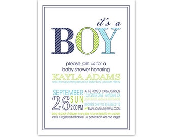 Digital - Baby Shower Invitation //you can change the colors// Kayla design