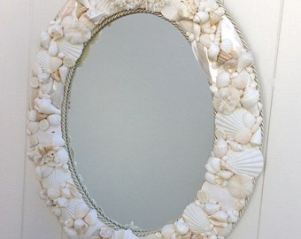 "Beach Decor - Seashell Mirror - 24"" x 30"""
