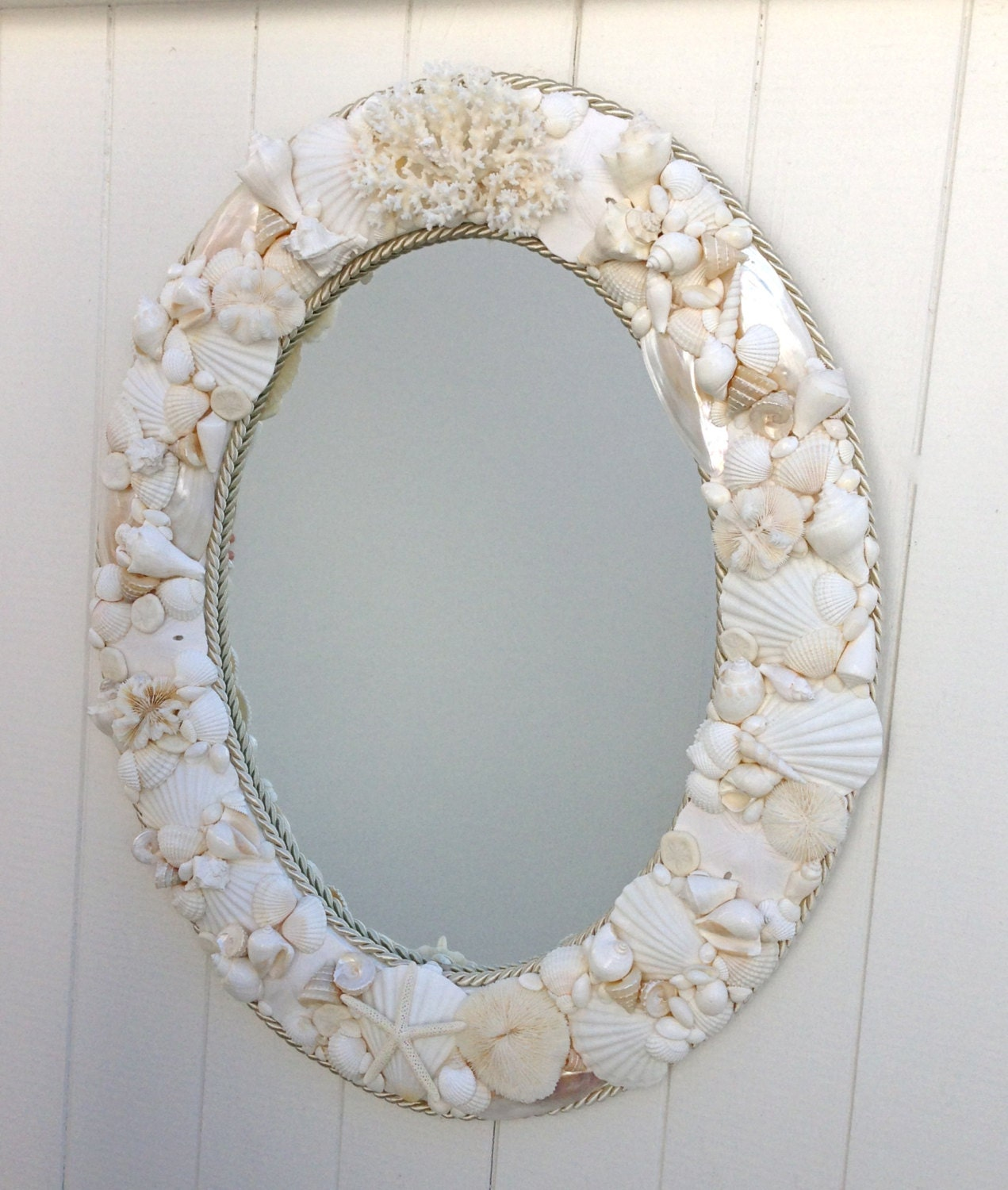 Seashell Mirror 24 X 30 With Optional Cording