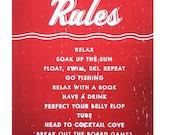 Lake House Rules 11 x 17