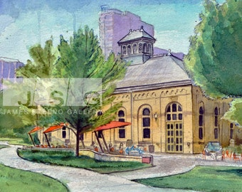 Milwaukee River Flushing Tunnel Station Watercolor 8x10 Print