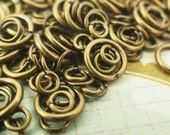 100 Antique Gold Jump Rings - Vintage Look - 22, 20, 18, 16 Gauge - Best Commercially Made - 100 % Guarantee