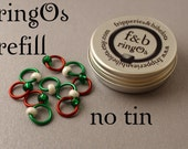 ringOs REFILL - Holly and Mistletoe - Snag-Free Ring Stitch Markers for Knitting