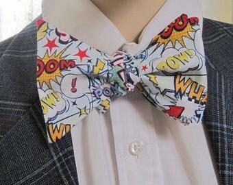 Super hero bam kaboom Bow Tie