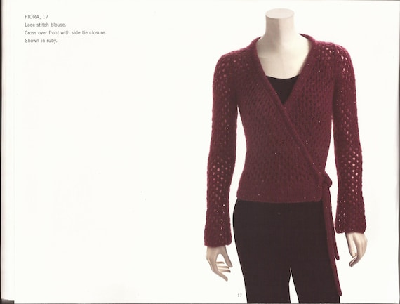 Adrienne Vittadini Knitting Pattern Books : Adrienne Vittadini Knitting Pattern Book vol 24 Pullovers Coats Tops Cardigan...