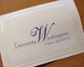 Graduation Announcement, traditional folded card, Washington