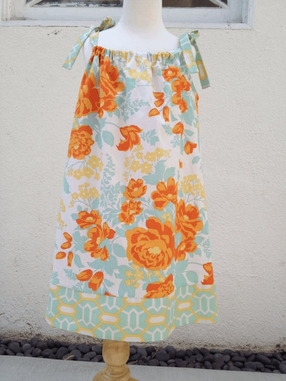 Orange Crush Pillowcase Swing Dress using Joel Dewberry Fabrics