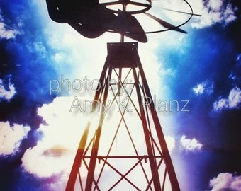 "8"" x 10"" Fine Art Windmill Photographic Print - Metallic Finish"
