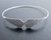 Angel Wing Bracelet, Wing Bangle, Silver Bracelet Bangle, Silver Angel Bracelet, Angel Wings Jewelry, Angel Bangle Bracelet, Angel Jewelry