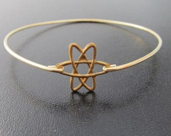Atom Bracelet, Atom Jewelry, Science Jewelry, Science Bracelet, Atomic Jewelry, Atomic Bracelet, Physics Jewelry, Atom Bangle Bracelet