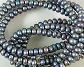 Freshwater Bluish Gray Pearl Beads 60% off, qty 91
