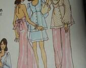 Vtg 70s Betsey Johnson Alley Cat Dress Top Pants sewing pattern sz 10 32.5 B