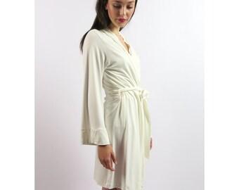 short bamboo robe - GEM sleepwear range - made to order
